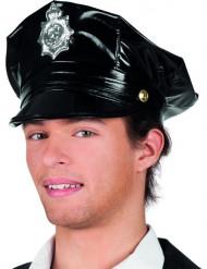 Gorra de polícia negro adulto