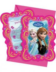 6 cartas de invitación Frozen™