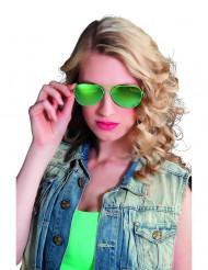 Gafas de policía verdes adulto