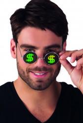 Gafas redondas dólar adulto