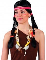 Collar indio plumas