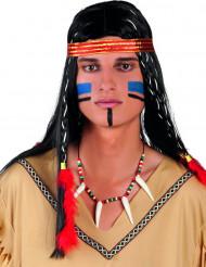 Collar indio piedras de colores