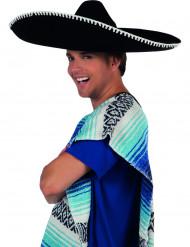 Sombrero mexicano negro adulto