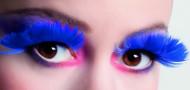 Pestañas postizas de plumas azules adulto