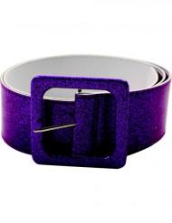 Cinturón brillante violeta adulto