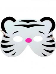 Máscara de tigre blanco niño o niña