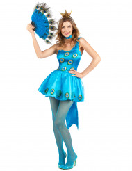 Disfraz de pavo real mujer