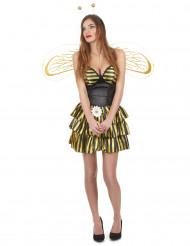Disfraz de abeja con alas mujer