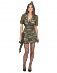 Disfraz de militar mujer