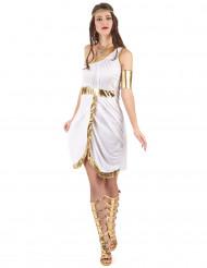 Disfraz de diosa griega blanco/dorado