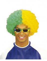 Peluca hincha Brasil adulto