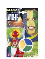 Maquillaje hincha Brasil
