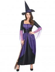 Disfraz bruja morado mujer