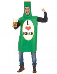 Disfraz botella de cerveza adulto