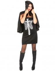 Disfraz esqueleto mujer con capa