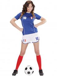 Disfraz de futbolista Francia mujer