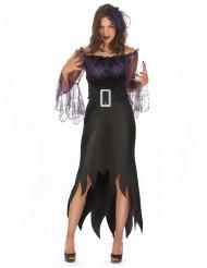 Disfraz de mujer araña violeta