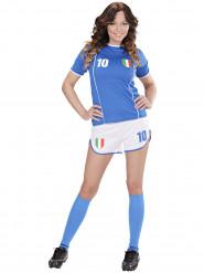 Disfraz de futbolista Italia mujer