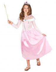 Disfraz princesa rosa con diadema niña