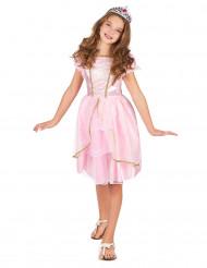 Disfraz princesa rosa y dorado niña