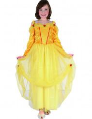 Disfraz princesa amarillo niña
