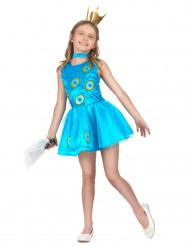 Disfraz pavo real niña