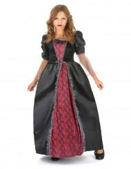 Disfraz vampiro rojo y negro elegante niña