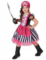 Disfraz pirata rosa niña