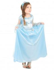 Dsfraz de princesa azul niña