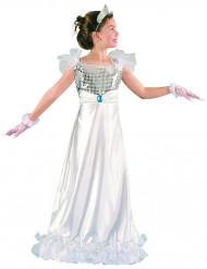 Disfraz de princesa blanco niña