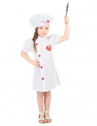 Disfraz chef de cocina niña