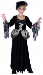 Disfraz viuda negra niña