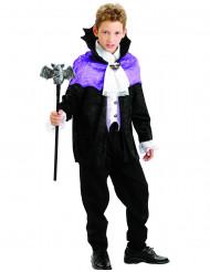 Disfraz vampiro niño violeta y negro