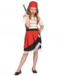 Disfraz pirata del océano niña