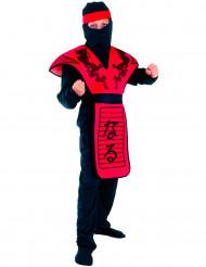 Disfraz ninja dragón rojo niño