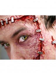 Heridas grapas aplicación con agua
