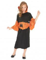 Disfraz reina araña naranja niña