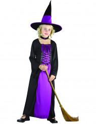Disfraz de bruja violeta calaveras para niña