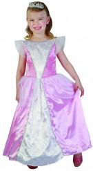 Disfraz princesa rosa y blanco niña