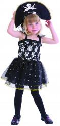 Disfraz de pirata calavera niña