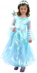 Disfraz de princesa azul de lujo niña