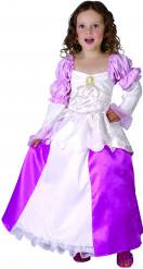 Disfraz princesa del renacimiento rosa niña