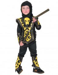 Disfraz de ninja amarillo niño