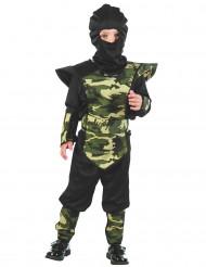 Disfraz ninja militar niño