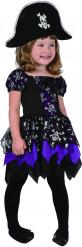 Disfraz pirata violeta niña