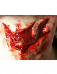 Herida garganta cortada