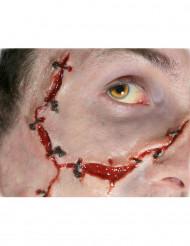 Maquillaje herida con puntos