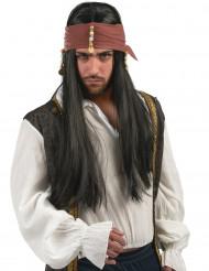 Peluca de pirata hombre