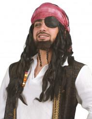Peluca pirata hombre