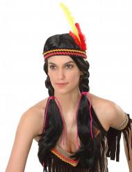 Peluca de india para mujer con trenzas